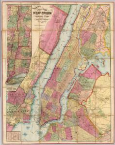 Watson's New Map Of New-York And Adjacent Cities.