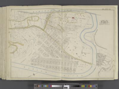 Manhattan, Double Page Plate No. 45 [Map bounded by Hudson River, Harlem River]