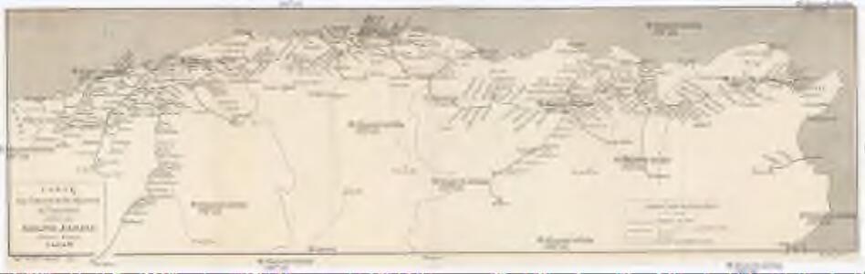 Carte des chemins de fer Algériens et Tunisiens