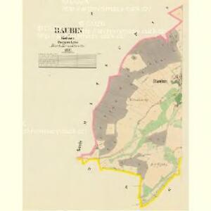 Baubin - c0430-1-001 - Kaiserpflichtexemplar der Landkarten des stabilen Katasters