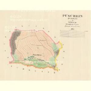 Puschein (Pussin) - m0302-1-001 - Kaiserpflichtexemplar der Landkarten des stabilen Katasters