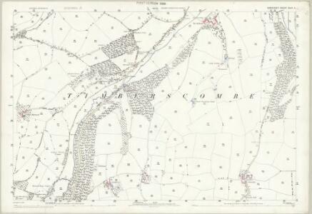 Somerset XLVI.4 (includes: Cutcombe; Timberscombe; Wootton Courtenay) - 25 Inch Map