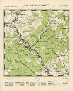 Orientační mapy. Vlárský průsmyk