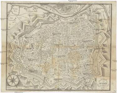 Plan von Wien im Jahre 1770