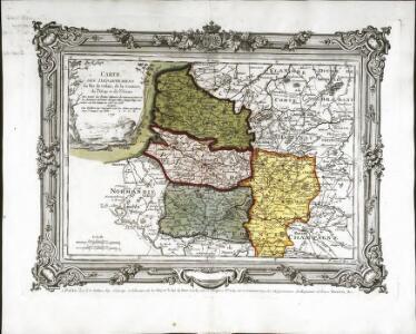 Carte des départemens du Pas de Calais, de la Somme, de l'Oise et de l'Aisne