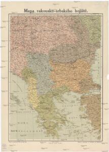 Mapa rakousko-srbského bojiště