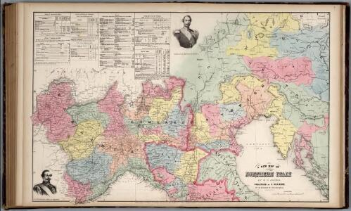A New Map of Northern Italy by W.H. Holmes.