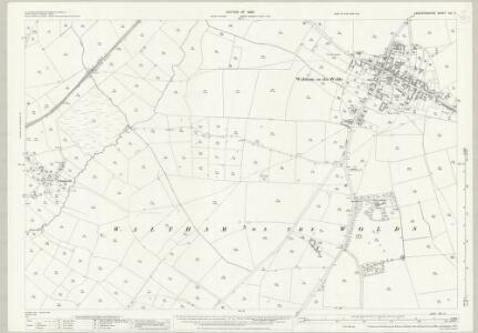 Leicestershire XIII.11 (includes: Scalford; Waltham) - 25 Inch Map