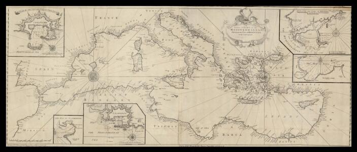 A correct chart of the Mediterranean sea from the coast of Portugal to the Levant