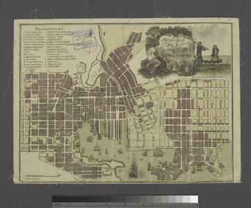 Improved plan of the city of Baltimore.