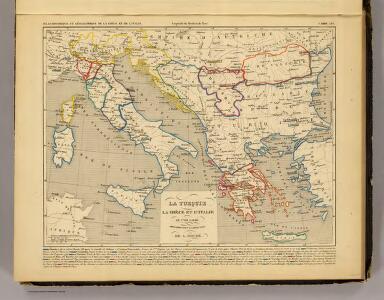 La Turquie, la Grece et l'Italie de 1700 a 1840.