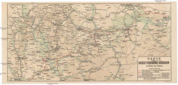 Karte der Kaiser Ferdinands-Nordbahn