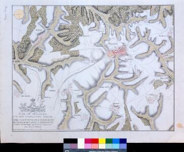 Plan von Pirmasens und der umliegenden Gegend