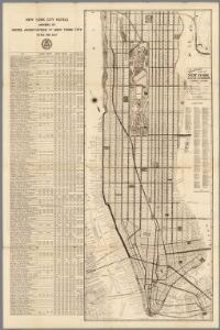 Nostrands map of New York house numbers and subway guide. Ohman Map Co.