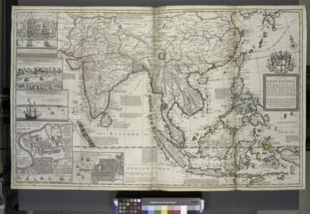 A map of the East-Indies and the adjacent countries ; with the settlements, factories and territories explaning what belongs to England, Spain, France, Holland, Denmark, Portugal &c. ...
