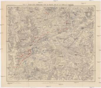 Plan zur Schlacht vor Le Mans, am 10-ten, 11-ten und 12-ten Januar