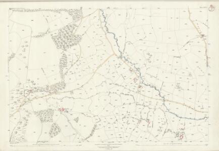 Shropshire LXXVI.2 (includes: Clun; Llanfair Waterdine) - 25 Inch Map