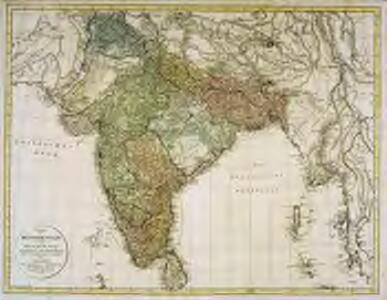 Charte von Hindostan und der Halbinsel