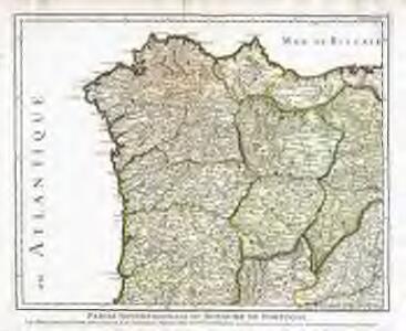 Partie septentrionale du royaume de Portugal, les royaumes de Leon et de Galice, les Asturies, partie des deux Castilles [et]c