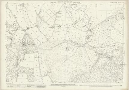 Monmouthshire XIV.16 (includes: Mitchell Troy United; Trelech United) - 25 Inch Map
