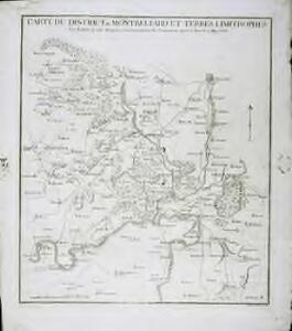 Carte du district de Montbeliard et terres limitrophes