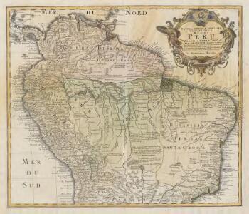 Tabula Americae Specialis Geographica Regni Peru, Brasiliae, Terrae Firmae