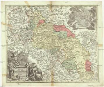 Superioris et inferioris Ducatus Silesiae in suos 17 minores principatus et dominia divisi nova tabula