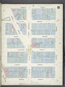 Manhattan, V. 1, Plate No. 8 [Map bounded by Thomas St., Church St., Murray St., Greenwich St.]