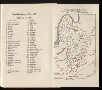 Verwaltungsgebiet Ober Ost. Einteilung der Kreise und Eisenbahnlinien