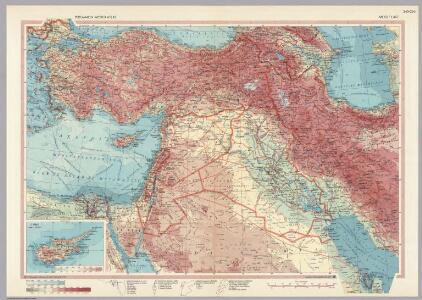 Middle East.  Pergamon World Atlas.
