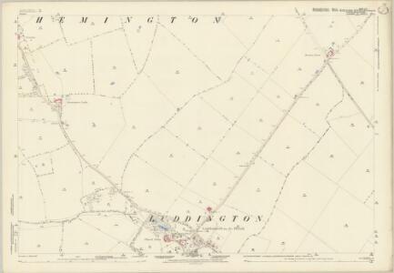 Huntingdonshire VIII.16 (includes: Great Gidding; Hemington; Luddington; Thurning) - 25 Inch Map