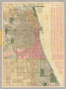 Blanchard's guide map of Chicago.