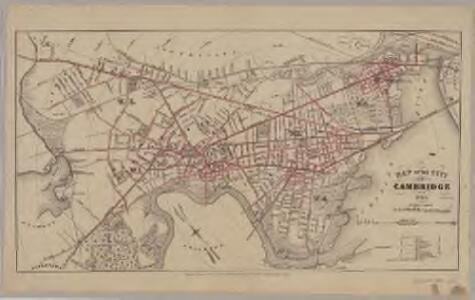 Map of the city of Cambridge for 1865