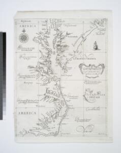 Carta particolare della Virginia Vecchia e Nuoua : la longitune comica da l'Isola di Pico di Asores : d'America carta, III / A.F. Lucini fece.