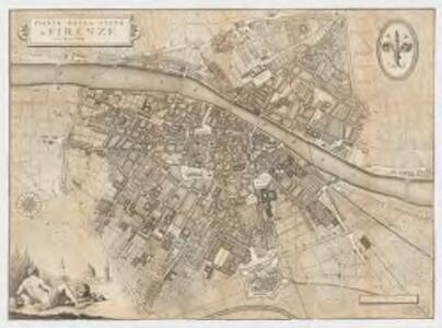 Pianta della città di Firenze