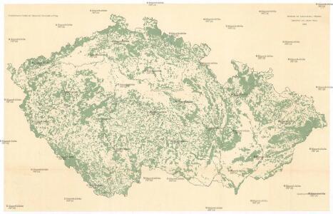 Waldkarte der Sudetenländer