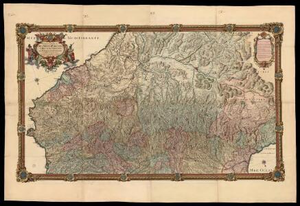 Carte generale des Monts Pyrénees, et partie des royaumes de France et d'Espagne / par le Sr. Roussel ; J.B. Delahaye scrip. ; A. Coquart fecit