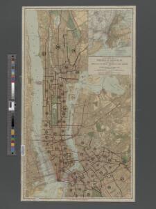 TheRand McNally map of the Borough of Manhattan.