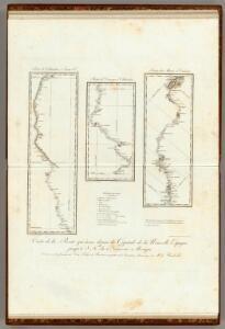 Carte de la Route qui mene depuis la Capitale de la Nouvelle Espagne.