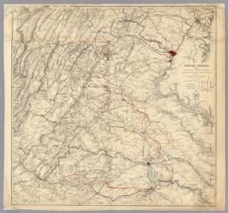 Central Virginia showing Lieut Gen'l U.S. Grant's Campaign and Marches.