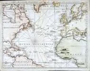 Carte de l'ocean Atlantique