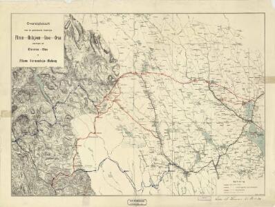 Spesielle kart 41: Oversigtskroki over projekterede Banelinier Flisen-Halsjøen-Støa-Orsa