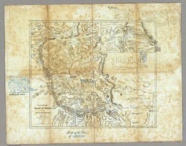 Map Of The Valley Of Mexico and the Surrounding Mountains.