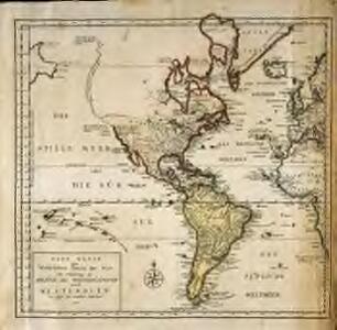 Neue Karte des westlichstens Theiles der Welt