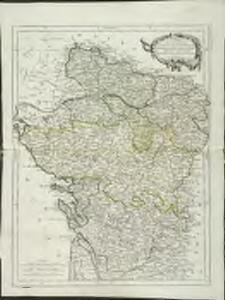 Carte des gouverneménts d'Anjou et du Saumurois, de la Touraine, du Poitou, du Pays d'Aunis Saintonge-Angoumois