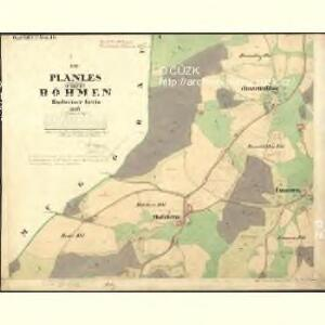 Planles - c5808-1-001 - Kaiserpflichtexemplar der Landkarten des stabilen Katasters