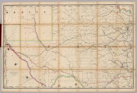 (Texas) Railroad Map of the United States.