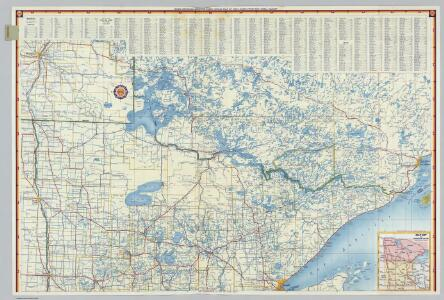 Shell Highway Map of Minnesota (southern portion).