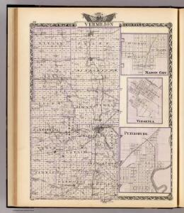 Map of Vermilion County, Mason City, Virginia and Petersburg.