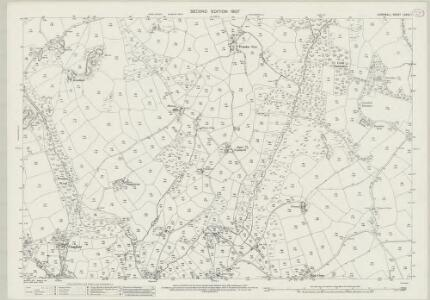 Cornwall LXXVII.1 (includes: Constantine; Mabe) - 25 Inch Map